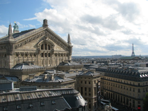 Palais Garnier - Opéra National de Paris and Eiffel Tower in the distance  Picture courtesy of my lovely sister.