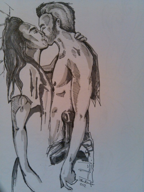 thecrystalspectacular:  Spartacus fanart. Guess who?