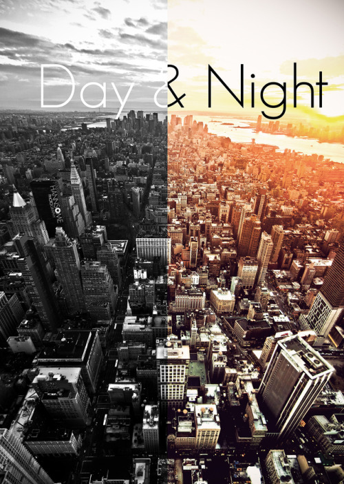 travelingcolors:  Day & Night NYC by Hannes Welker