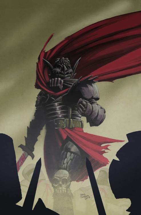 The Black Knight from my creator-owned graphic novel Dracula vs King Arthur. Art by Chris Moreno.