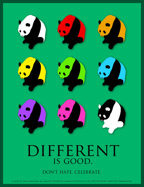 Diversity pandas. This is MINE, people. No steal. Hope like(: