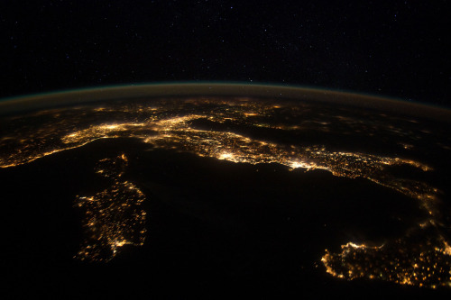 Italy, from the space station