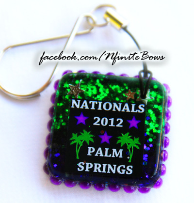 Keepsake charms made as gifts for Spirit Sports 2012 Duel in the Desert