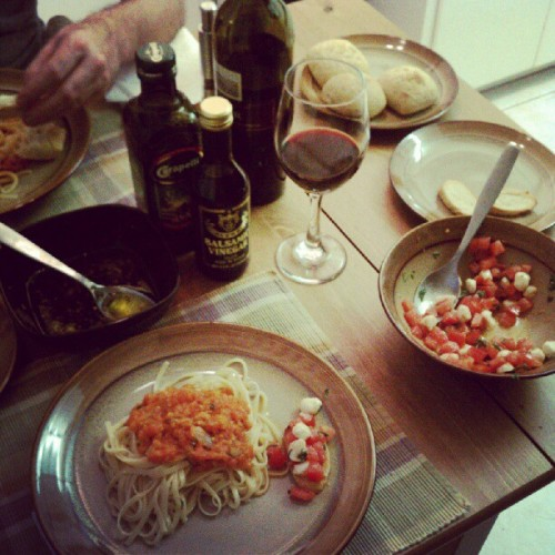 Homemade feast by the spouse (Taken with Instagram)