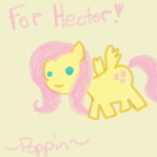poppinartland:  another donation doodle i did, a crayon flutters for hector!  (hello again, some news! i went and made a donate button finally so people without paypal accounts can donate now. this is a lot easier and i don't know why i didn't set it up earlier. the donate button is right on the side bar, and you can see it easily by clicking here. also i thought i'd let you guys know that so far i've raised just under 200 dollars, which will help me out TREMENDOUSLY. seriously you guys are awesome :'D anyways, loonadventure will be picking up again soon, i just need to do a bit more prep work and stuff. thanks everyone!)