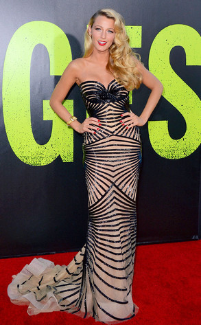 Blakey Lively in Zuhair Murad stuns the red carpet at the premiere of Savages!
