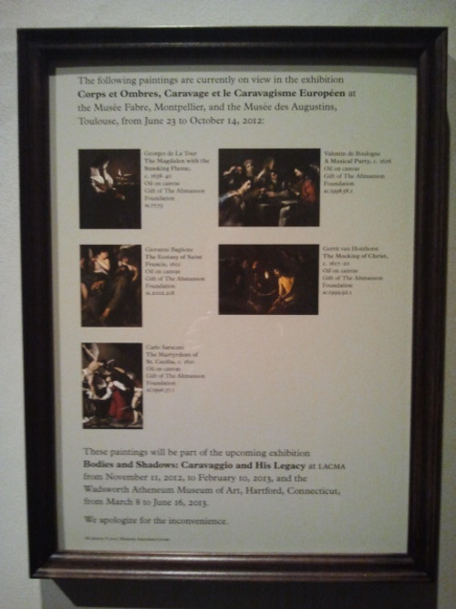 So, there's going to be a Caravaggio exhibit coming to LACMA in November and I'm really looking forward to it. Not only because Caravaggio's awesome, but also because they're going to have Georges de la Tour's 'Penitent Magdalene with a Smoking Flame' on display! :D