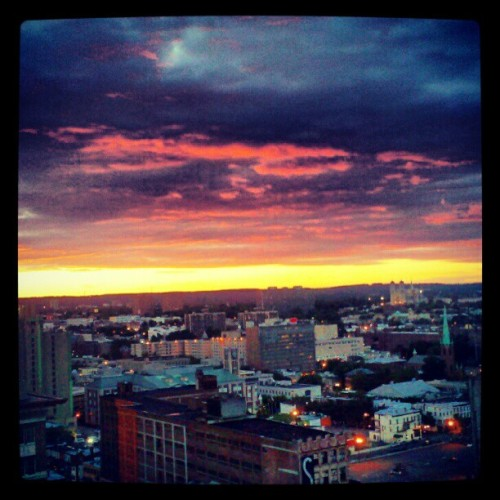 I will miss this view! #newark #downtown #nj #home #sunset (Taken with Instagram)