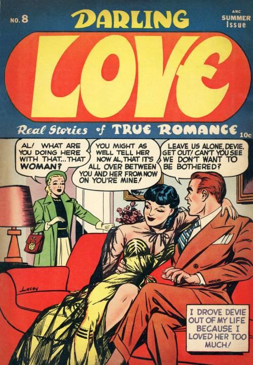 elizabitchtaylor:  Romance comic cover by Harry Lucey (via)