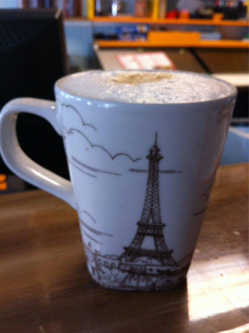 A very good cafe au lait at Le Petit Prince in Hollywood Beach, FL yesterday.