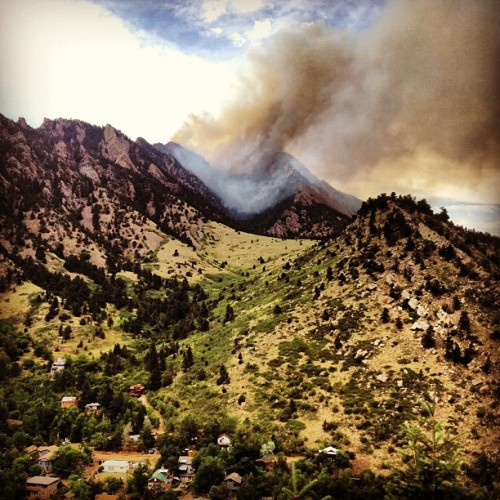 Flagstaff Fire in Boulder  evoltwin:  shadow canyon is burning