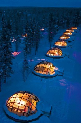 apparently you can rent these out in Finland and sleep under the Northern lights.