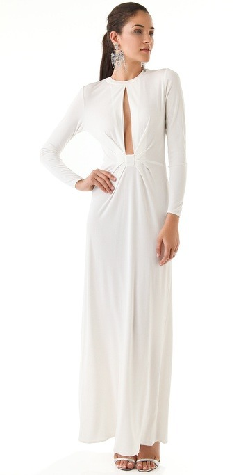 What would Arianne wear?A white Issa dress with a slit front.