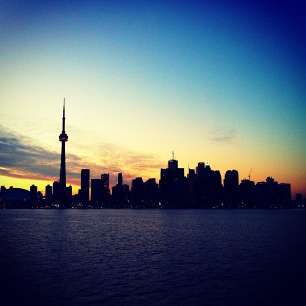 Sunset. Your City. #toronto #xoTO (Taken with Instagram at On A Boat)