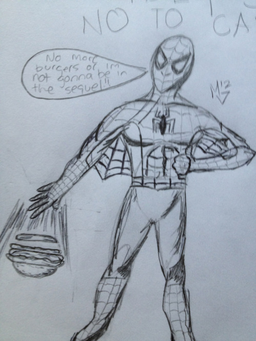 Spidey says no to Carls jr