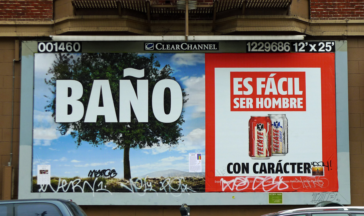 Thank you Tecate for giving the Mission exactly what it needs: a billboard celebrating public urination.