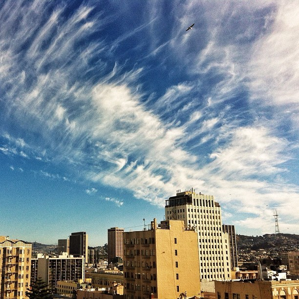 Pretty nice clouds over #sanfrancisco #bayarea #iphone #clouds (Taken with Instagram)