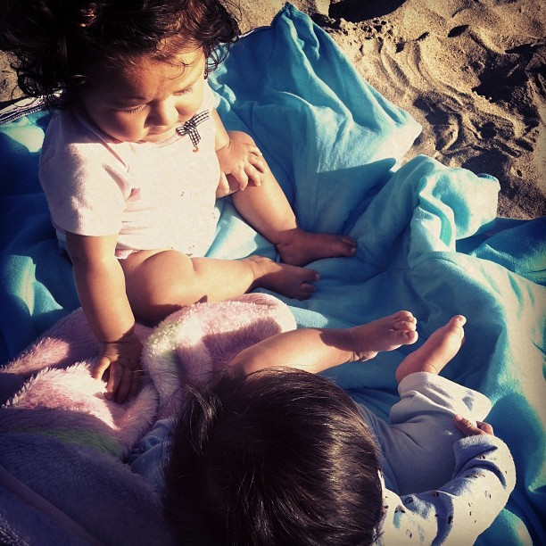 candyrevenge:  At the #beach with the #babies ❤☀🌊🚼 (Taken with Instagram)