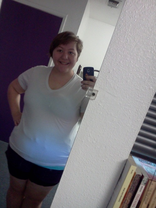 "Today starts my journey to health and fitness.  It is June 26th, 2012 and my starting weight is approximately 270. It fluctuates, but that is the heaviest I have been recently.I am 19 years old, and 5'5 1/2"". What started my journey? I started working at a summer camp and we do a lot of stuff. They also offer very healthy food as well. I decided to have a competition with my best friend. We are roughly the same size and both want to lose weight. I texted her, and she agreed.The only rule is that we must encourage one another. We both weigh in on September 1st, 2012. The loser must buy a the winner a $25 gift card to their place of choice. Other than working on my fitness, I will also be working on my self image. From this point on, I will love all my body, all the time. I will no longer put down myself. I am beautiful on the inside and out, no matter what.So this is my journey and this is a picture of me today, what I am starting out as. (:"
