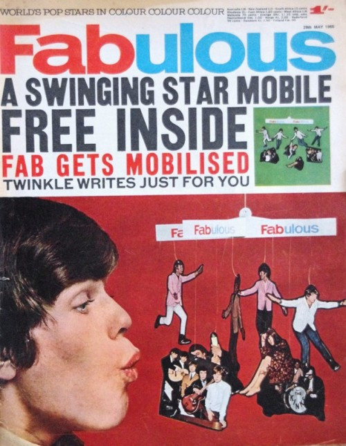 Peter Noone of Herman's Hermits on the cover of Fabulous magazine, May 29th 1965
