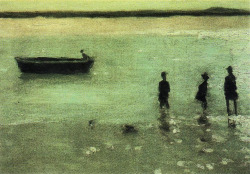invisiblestories:  Philip Wilson Steer, Beach at Etaples (1887) (via blueruins)