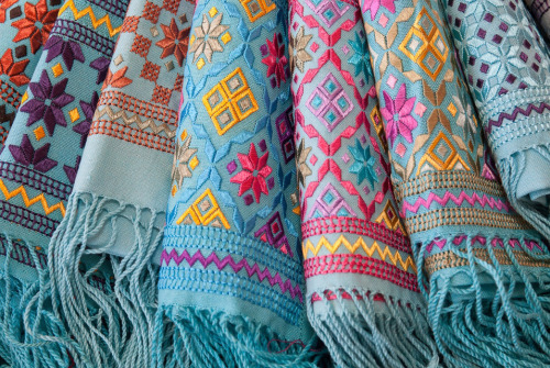 harvestheart:  Afghan Shawls on Sale in Santa Fe, NM Shawls made by Afghan women who sell their intricate, traditional embroidery through the Kandahar Treasure cooperative as a way to fight poverty. The shawls will be among the wares from around the world for sale at this year's art market July 13-15 in Santa Fe, N.M. AP Photo/Santa Fe International Folk Art Market, Bob Smith. By: Jeri Clausing, Associated Press