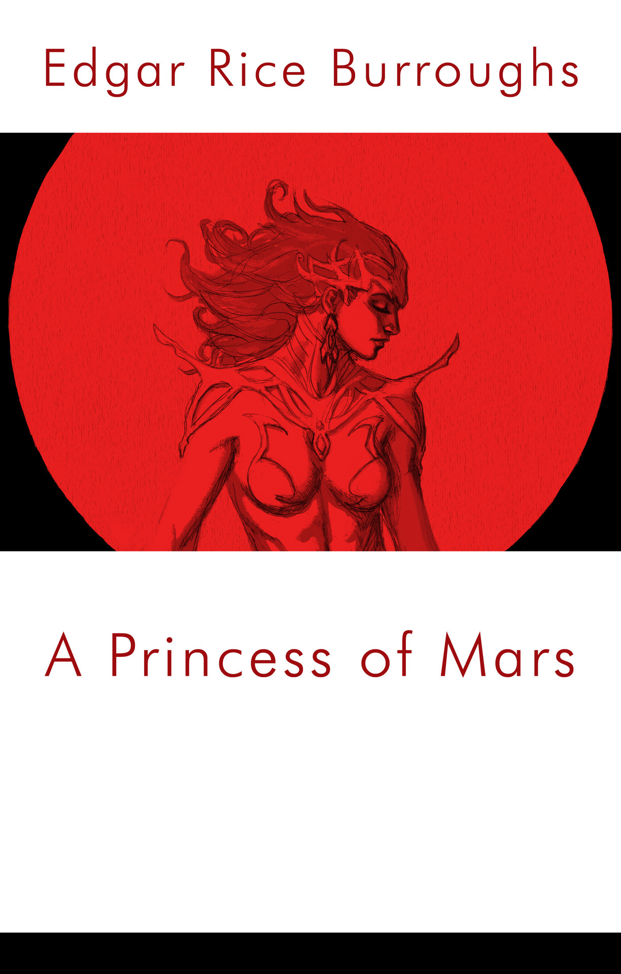"A fake book cover of ""A Princess of Mars"" done for last week's sketchblog ""literature"" theme. I had just watched John Carter, and enjoyed it, so I thought this would be fun. I was fond of the idea, not so much the execution so I was very hesitant to put it up. Check out the other contributions here: http://omegasketch.blogspot.com/"