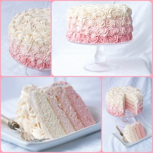 catietheriveter:  I want an ombré wedding cake