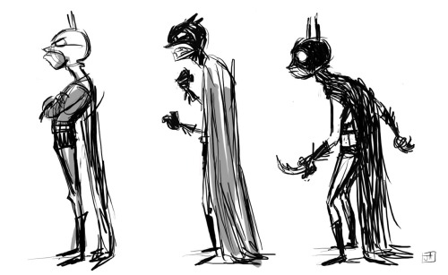 Teenage Wasteland Young Batman studies by Jesse Aclin :: via jesseaclin.blogspot.ca