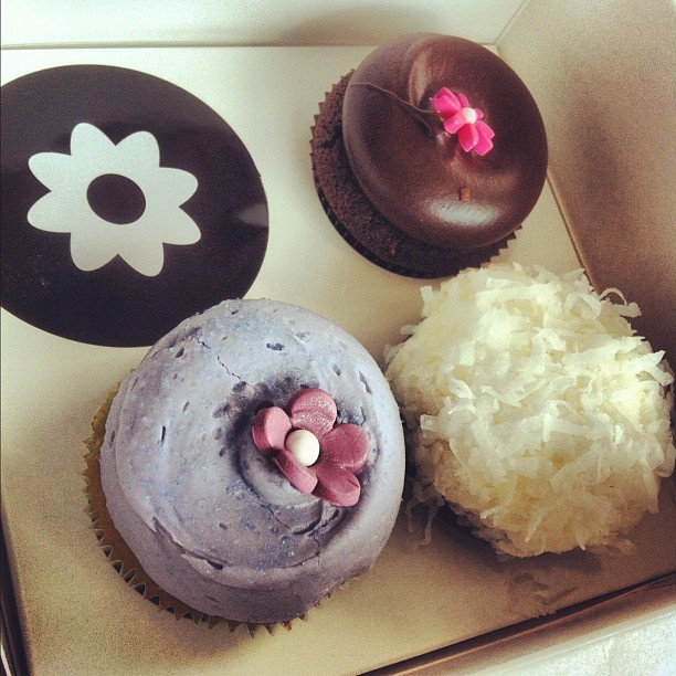 Georgetown Cupcake. Chocolate², Chocolate Coconut, and Lavendar Earl Grey Teacake.  (Taken with Instagram)
