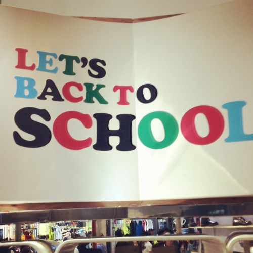 Yes!  Let's Back to School!…….especially the person who wrote this sign.