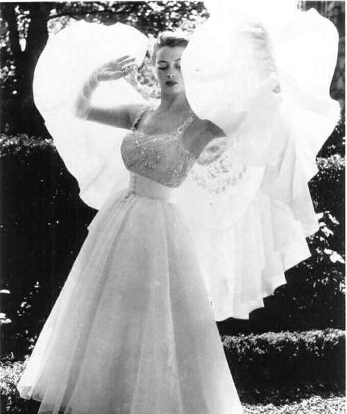 Capucine, 1952 in Givenchy