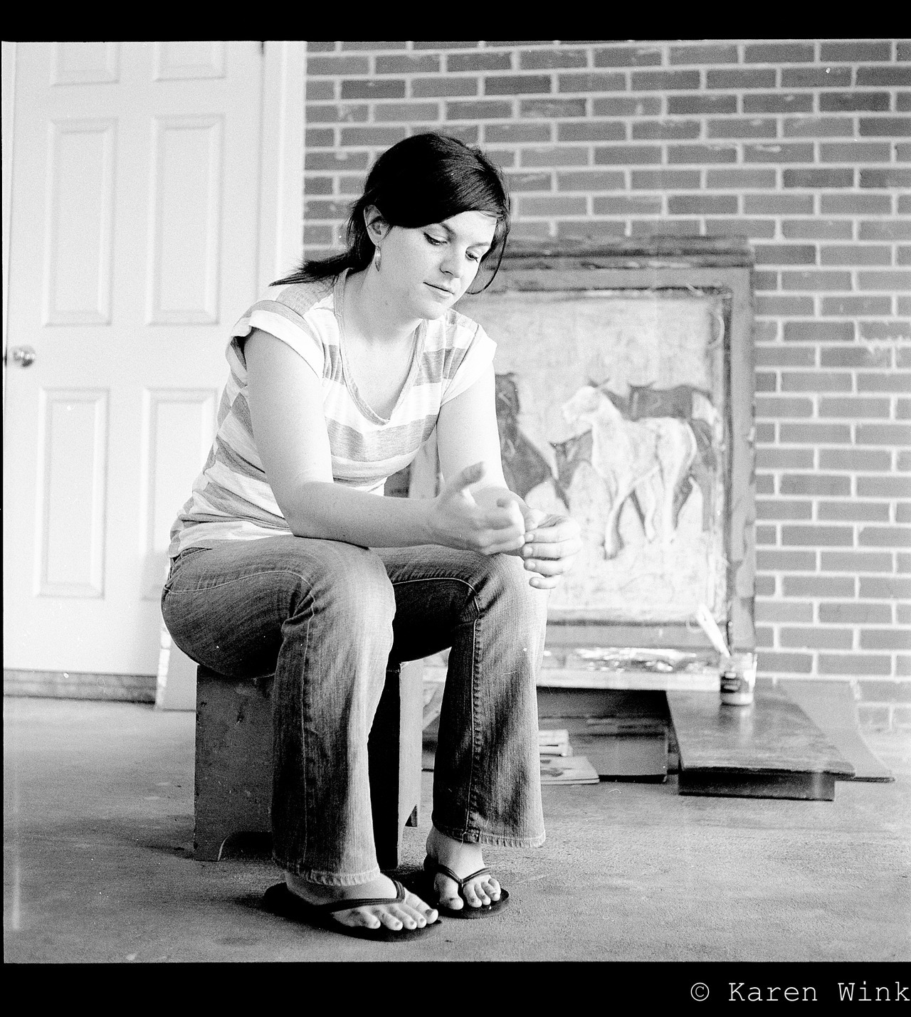 Contemporary artist, Erin Barker shot on Ilford HP-5 and kodak portra 160