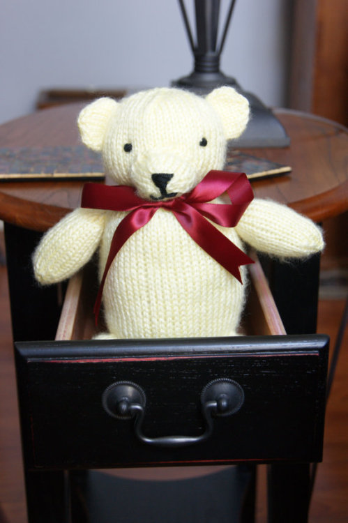Here's a cute teddy bear I listed on Etsy today!
