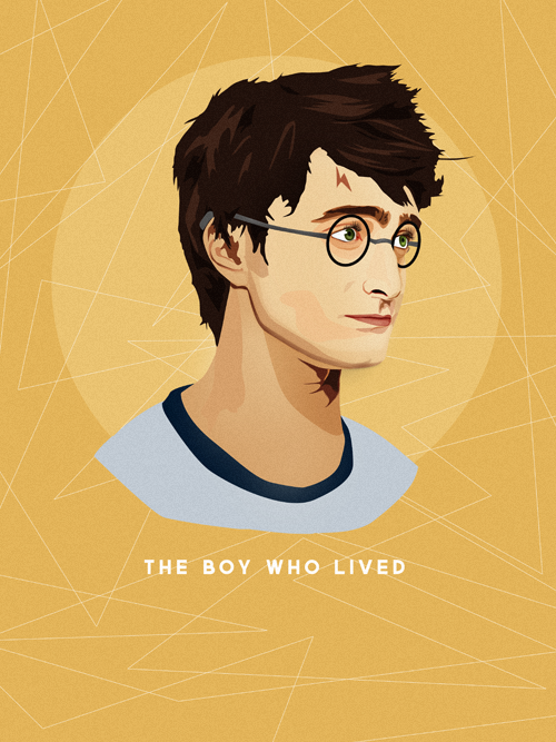 starktowering:  The Boy Who Lived. Vector Illustration. (Detail)The print is available to buy here at my shop. =] (Please do not remove text.)