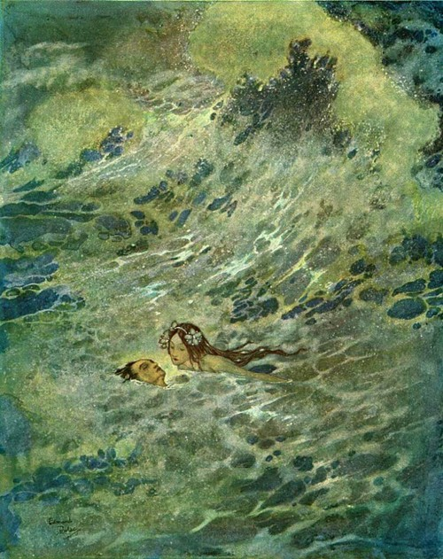 auralust:  Edmund Dulac :: the Little Mermaid (20th cent.)