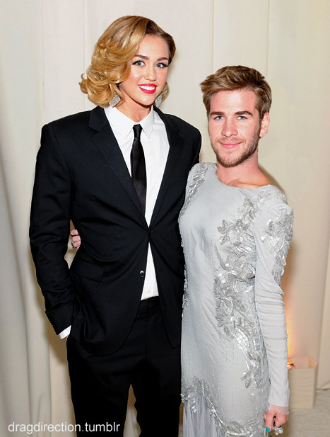 Liam and Miley are a really cute couple.