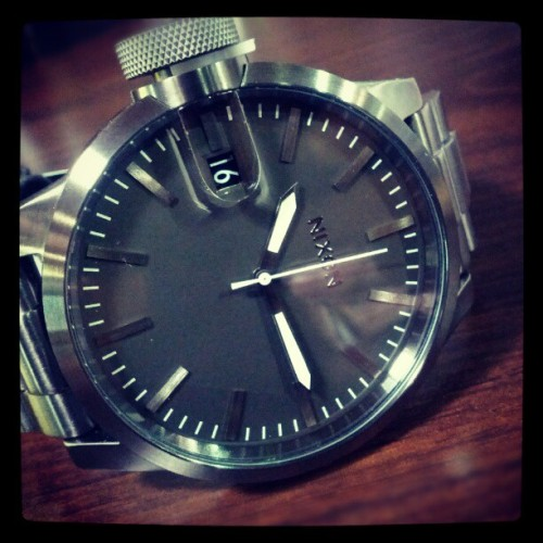 lookinfortheupsides:  WANT! No wait…. NEED!!! (Chronicle SS All Gunmetal) #nixon #chronicle #watch @nixon_now (Taken with Instagram at Employee Store)