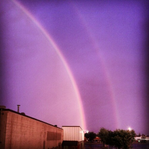 Double rainbow!! #yeg (Taken with Instagram)