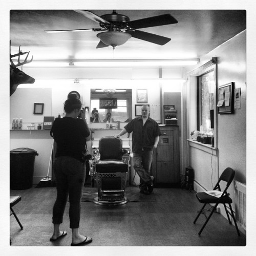 Last Barber in McDowell  (Taken with Instagram)