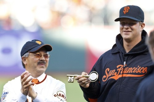 section22:  Matt Cain is now able to control San Francisco with just one small key.  All power to Matt Cain on June 13 Matt Cain Days.