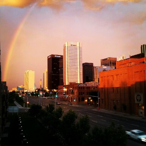 Rainbow from the balcony (Taken with Instagram)