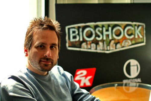 "choosingrapture:  About the Maker: Ken Levine  Ken Levine (Born September 1st, 1966, in Flushing, New York) is the creative director and co-founder of Irrational Games. He led the creation of the multi-million selling, multiple ""game-of-the-year"" award-winning video game BioShock, and is known for his work on Thief: The Dark Project and System Shock 2. He was named one of the ""Storytellers of the Decade"" by Game Informer and was the 1UP Network's 2007 person of the year."
