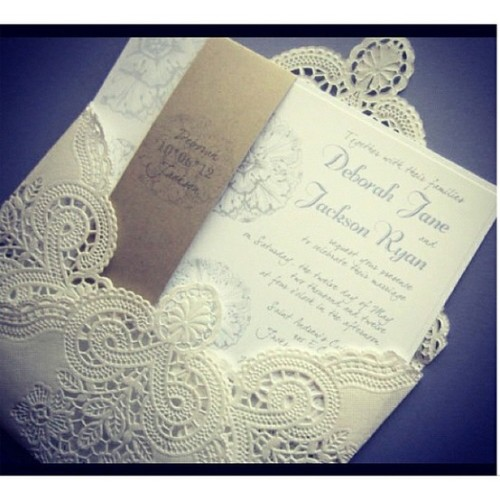 Lace DIY Invitations.