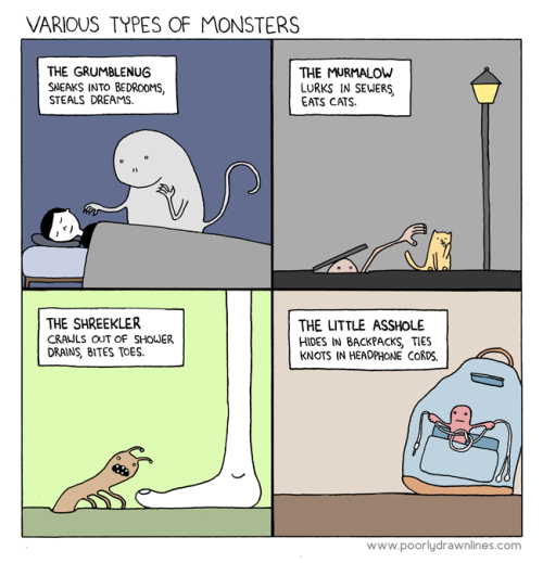 ianbrooks:  Monsters from Poorly Drawn Lines Man, FUCK that little asshole!