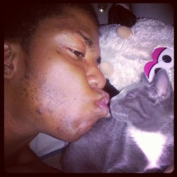 Late nights with starbuck #cats #boys  (Taken with Instagram)