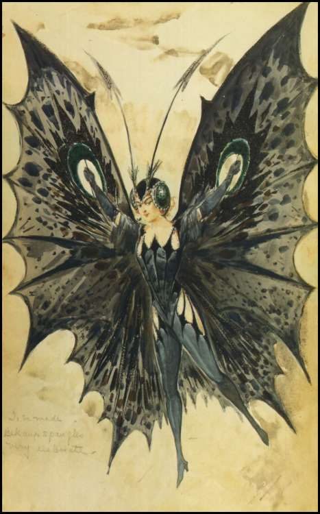 (via The Pictorial Arts: Outrageous)  Alfredo Edel — Black Butterfly— 1911