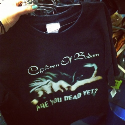 I saw this T-shirt the other day and it reminded me of you, @bodansdreamland 😊👕 #childrenofbodom #bandtee #band #merch #bandshirts #vintage #blackmarket #downtown #downtowntoronto #toronto #tshirt #instacapture #instamoment #instashot #instamood #instagood #instahub #iphone4 #iphoto #instaphoto #instasnap (Taken with Instagram)