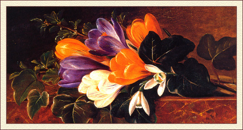 "Johan Laurentz Jensen ""Crocus on a table"""