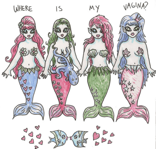 The Question on Everyone's Mind… on Flickr.me drawing mermaids inspired by My Pretty Mermaids,the MLP of the mer-world.